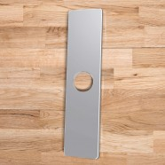 Faucet Hole Cover Deck Plate - Stainless Steel with Chrome Finish (P411CH)