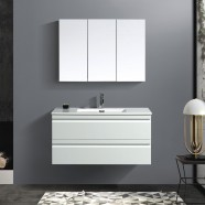 40 In. Wall Mount Vanity Set with Mirror (ZRW1002WH-SET)