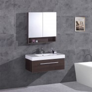 3-piece Set with 35 In. Plywood Vanity, Basin and Mirror Cabinet (DK-T5007-SET)