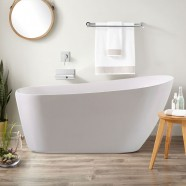 BATHPRO 67 In Freestanding Bathtub - Acrylic Pure White (DK-PW-K33778)