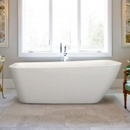 66 In Seamless Freestanding Bathtub - Acrylic Pure White (DK-PW-9773)