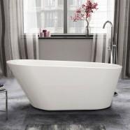 61 In Seamless White Acrylic Freestanding Bathtub (DK-1506B)