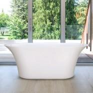 59 In Freestanding Bathtub - Acrylic Pure White (DK-PW-60572)