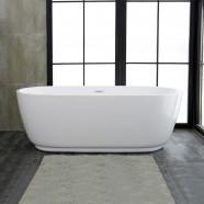 59 In Freestanding Bathtub - Acrylic Pure White (DK-PW-5957)