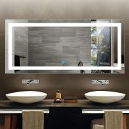 71 x 32 In Horizontal LED Bathroom Mirror with Touch Button (DK-OD-CK010-A)