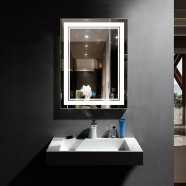 DECORAPORT 24 x 32 In LED Bathroom Mirror with Touch Button, Dimmable, Vertical & Horizontal Mount (CK160-2432)