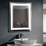 DECORAPORT 28 x 36 In LED Bathroom Mirror with Touch Button, Dimmable, Vertical & Horizontal Mount (CK160-2836)
