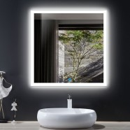 36 x 36 In LED Bathroom Mirror with Touch Button (DK-OD-N031-E)