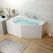 BATHPRO 59 In Whirlpool Bathtub - Acrylic White (DK-M12585R-B)