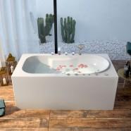 59 In Whirlpool Bathtub - Acrylic White (DK-M14582-B)