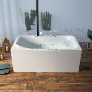 BATHPRO 67 In Whirlpool Bathtub - Acrylic White (DK-M15785-C)