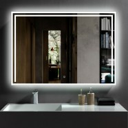 40 x 28 In Horizontal LED Bathroom Mirror with Touch Button (DK-CK207)