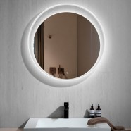 30 In Round LED Bathroom Mirror with Touch Button (DK-CK209)