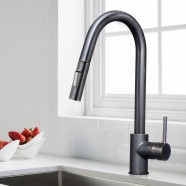 Black Bronze Finished Brass Kitchen Faucet - Pull Out Spray Head (82H13-ORB-A)