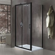60 In. Sliding Shower Enclosure In Matte Black (EAB003004)