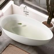 BATHPRO 67 In High-end Freestanding Bathtub - Acrylic Matte White (DK-MF-94778)