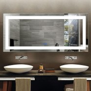 DECORAPORT 70 x 32 Inch LED Bathroom Mirror with Touch Button, Anti Fog, Dimmable, Vertical & Horizontal Mount (D202-7032)