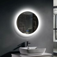 Decoraport 24 x 24 In LED Bathroom Mirror with Touch Button, Anti-Fog, Dimmable, Vertical Mount (YT01-2424)