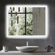 DECORAPORT 36 x 28 Inch LED Bathroom Mirror/Dress Mirror with Infrared Sensor Control, Anti-Fog, Dimmable, Vertical & Horizontal Mount (NG13-3628)