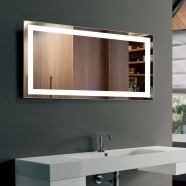 DECORAPORT 40 x 24 Inch LED Bathroom Mirror with Touch Button, Anti Fog, Dimmable, Vertical & Horizontal Mount (D211-4024)