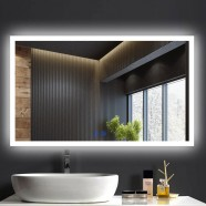 DECORAPORT 40 x 24 Inch LED Bathroom Mirror/Dress Mirror with Touch Button, Anti Fog, Dimmable, Vertical & Horizontal Mount (NT11-4024)