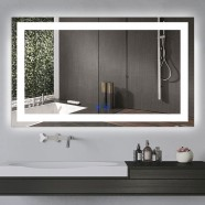 DECORAPORT 60 x 36 Inch LED Bathroom Mirror/Dress Mirror with Touch Button, Anti Fog, Dimmable, Bluetooth Speakers, Vertical & Horizontal Mount (D224-6036A)