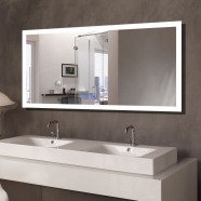 DECORAPORT 55 x 28 Inch LED Bathroom Mirror/Dress Mirror with Touch Button, Bluetooth, Anti-Fog, Dimmable, Vertical & Horizontal Mount (NT061-5528)