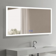 DECORAPORT 60 x 36 Inch LED Bathroom Mirror/Dress Mirror with Touch Button, Anti Fog, Dimmable, Vertical & Horizontal Mount (N031-6036-TS)
