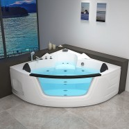 Decoraport 62 x 62 In Whirlpool Tub with Computer Panel, Heater, Ozone, Light (DK-RL-6155)