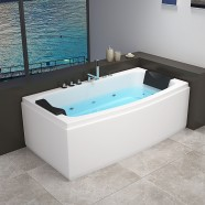 Decoraport 67 x 32 In Whirlpool Tub with Heater, Ozone (DK-RL-6141)