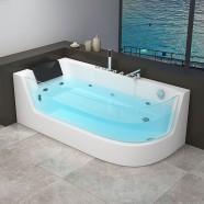 Decoraport 67 x 32 In Whirlpool Tub with Heater, Ozone (DK-RL-6135N)