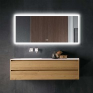 DECORAPORT 70 x 32 Inch LED Bathroom Mirror with Touch Button, Anti Fog, Dimmable, Vertical & Horizontal Mount (D102-7032)