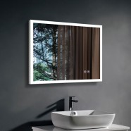 DECORAPORT 36 x 28 Inch LED Bathroom Mirror with Touch Button, Anti Fog, Dimmable, Vertical & Horizontal Mount (NT13-3628)