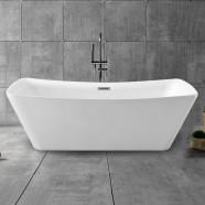 67 In Freestanding Bathtub - Acrylic Pure White (DK-PW-4777)