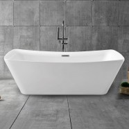 67 In Freestanding Bathtub - Acrylic Pure White (DK-PW-4777)
