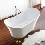 71 In Freestanding Bathtub - Acrylic White (DK-SLD-YG864)