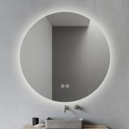 DECORAPORT 36 x 36 Inch LED Bathroom Mirror with Touch Button, Anti Fog, Dimmable, Vertical Mount (D1004-3636)
