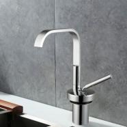 Decoraport Kitchen Faucet - Single Hole Single Lever - Brass with Chrome Finish (5316)