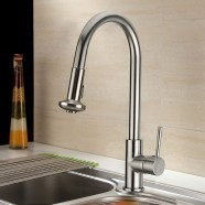 Decoraport Brass with Chrome Finish Pull Out Kitchen Faucet (D004CH)