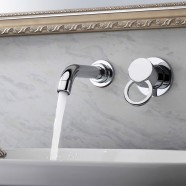 Basin&Sink Faucet - Double Hole Simple Lever - Brass with Chrome Finish (8860)