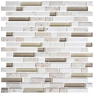 12 in. x 12 in. Electroplated Glass Mosaic Tile - 8mm Thickness (DK-RS234873A1)