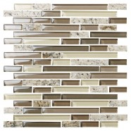 12 in. x 12 in. Electroplated Glass Mosaic Tile - 8mm Thickness (DK-MG154898198SRE)