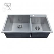 Stainless Steel Handmade Kitchen Sink (DK-SC-DG3318-R0)