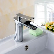 Basin&Sink Waterfall Faucet - Single Hole Single Lever - Brass with Chrome Finish (81H36-CHR-005)