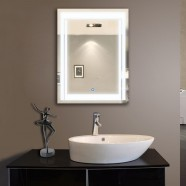 24 x 32 In Vertical LED Bathroom Silvered Mirror with Touch Button (DK-OD-CK150)