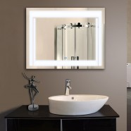 36 x 28 In Horizontal LED Bathroom Silvered Mirror with Touch Button (DK-OD-CK150-L)