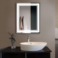 28 x 36 In Vertical LED Bathroom Silvered Mirror with Touch Button (DK-OD-CK160-I)