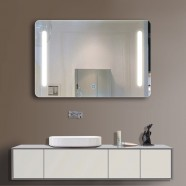 36 x 28 In Horizontal LED Bathroom Silvered Mirror with Touch Button (DK-OD-N027)