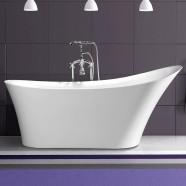 67 In Single Slipper Freestanding Bathtub – Acrylic White (DK-MEC3149)