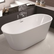 60 In Soaking Bathtub – Acrylic White (DK-MEC3004A)